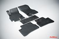 Ковры резиновые (сетка) Seintex для Hyundai Accent 1999- (цвет Черный)