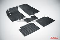 Ковры резиновые (сетка) Seintex для Chevrolet 2006- (цвет Черный)