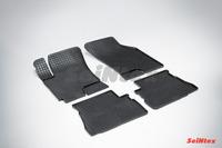 Ковры резиновые (сетка) Seintex для Hyundai Gets 2002- (цвет Черный)