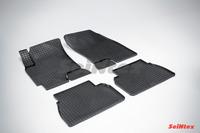 Ковры резиновые (сетка) Seintex для Chevrolet Epica 2006- (цвет Черный)