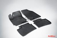Ковры резиновые (сетка) Seintex для Hyundai Elantra 2006- (цвет Черный)