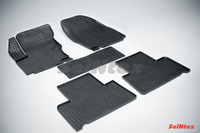 Ковры резиновые (сетка) Seintex для Ford S-MAX 2006- (цвет Черный)