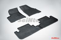 Ковры резиновые (сетка) Seintex для Chevrolet REZZO 2004- (цвет Черный)