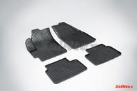 Ковры резиновые (сетка) Seintex для Chevrolet Spark 2005- (цвет Черный)