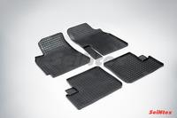 Ковры резиновые (сетка) Seintex для Chery TIGGO (T11) 2005- (цвет Черный)