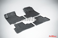 Ковры резиновые (сетка) Seintex для Honda CR-V III 2006- (цвет Черный)