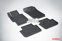 Ковры резиновые (сетка) Seintex для Honda Accord VII 2002- (цвет Черный)