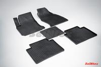 Ковры резиновые (сетка) Seintex для Hyundai MATRIX 2001- (цвет Черный)