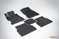 Ковры резиновые (сетка) Seintex для Honda Civic VIII 2006- (цвет Черный)