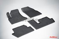 Ковры резиновые (сетка) Seintex для Citroen С4 PICASSO 2007- (цвет Черный)