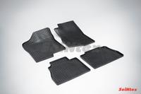 Ковры резиновые (сетка) Seintex для Chevrolet TAHOE II 2002-2007 (цвет Черный)
