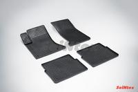 Ковры резиновые (сетка) Seintex для Cadillac SRX 2004-2010 (цвет Черный)