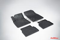 Ковры резиновые (сетка) Seintex для Cadillac BLS 2006- (цвет Черный)