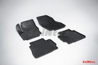 Ковры резиновые (сетка) Seintex для Ford Mondeo IV 2007- (цвет Черный)