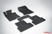 Ковры резиновые (сетка) Seintex для Honda Accord VIII 2007- (цвет Черный)