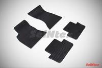 Ковры резиновые (сетка) Seintex для Audi A4 (B8) 2007- (цвет Черный)