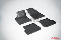Ковры резиновые (сетка) Seintex для Audi A6 2008- (цвет Черный)