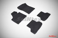 Ковры резиновые (сетка) Seintex для Audi А3 2003- (цвет Черный)