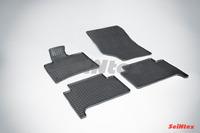 Ковры резиновые (сетка) Seintex для Audi Q7 2005- (цвет Черный)