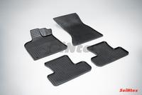 Ковры резиновые (сетка) Seintex для Audi Q5 2008- (цвет Черный)