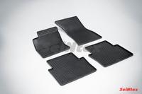 Ковры резиновые (сетка) Seintex для Audi А8 D3 2003-2010 (цвет Черный)