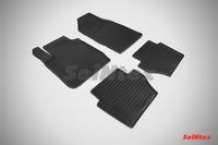 Ковры резиновые (сетка) Seintex для Ford Fiesta IV 2008- (цвет Черный)