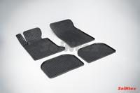 Ковры резиновые (сетка) Seintex для BMW 7 Ser E-38 1994-2001 (цвет Черный)