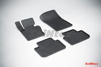 Ковры резиновые (сетка) Seintex для BMW X3 E-83 2000-2010 (цвет Черный)