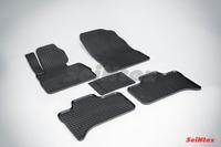 Ковры резиновые (сетка) Seintex для BMW X5 E-53 2000-2006 (цвет Черный)