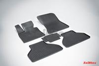 Ковры резиновые (сетка) Seintex для BMW X5 E-70 2007-2014 (цвет Черный)