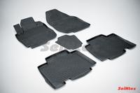 Ковры резиновые с бортом Seintex для Toyota RAV 4 III L 2008- (цвет Черный)