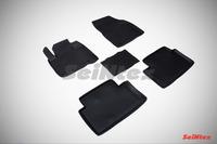 Ковры резиновые с бортом Seintex для Citroen C5 2008- (цвет Черный)