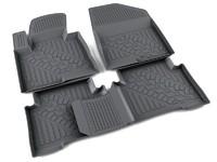 Ковры полиуретановые AGATEK для Hyundai Santa Fe 2013- черные
