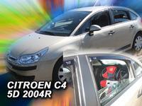 Дефлекторы окон вставные Heko для Citroen C4 2004- Hethbek 5D к-т (4шт.)