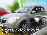 Дефлекторы окон вставные Heko для Dacia Sandero 2008- 5D к-т (4шт.)