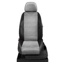 Авточехлы для Audi A3 8P с 2003-2013г. хэтчбек 3 двери.Задние спинка 40 на 60, сиденье единое, 5 подголовников, передний подлокотник, БЕЗ заднего подлокотника  ЭК-07. Середина: экокожа с.-серая с перфорацией. Боковины: чёрная экокожа.  Спинка: чёрная экокожа.