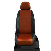 Авточехлы для Audi 100 (C 4) с 1991-1995г. седан, универсал Задние спинка 40 на 60, сиденье единое, задний подлокотник (молния), 5-подголовников ЭК-10. Середина: экокожа фокс с перфорацией. Боковины: чёрная экокожа.  Спинка: чёрная экокожа.