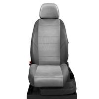 Авточехлы для Audi A3 8P с 2003-2013г. хэтчбек 3 двери.Задние спинка 40 на 60, сиденье единое, 5 подголовников, передний подлокотник, БЕЗ заднего подлокотника  ЭК-17. Середина: экокожа с-серая с перфорацией. Боковины: т-серая экокожа. Спинка: т-серая экокожа