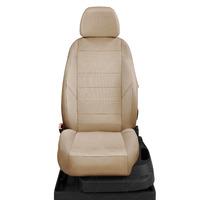 Авточехлы для Audi A3 8L с 1996-2003г. хэтчбек 5 дверей Задние спинка и сиденье 40 на 60, 5 подголовников, перед подлокотник, БЕЗ заднего подлокотника  ЭК-26. Середина: экокожа бежевая с перфорацией. Боковины: бежевая экокожа. Спинка: бежевая экокожа