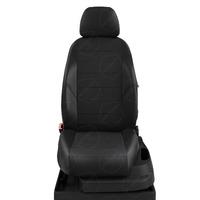 Авточехлы для Audi A3 8V с 2013-н.в. седан, хэтчбек 4-5 дверей. Задние спинка 40 на 60, сиденье единое, (так же подходит на спинку 40 на 20 на 40), 5 подголовников, передний подлокотник, БЕЗ заднего подлокотника  КК-4. Середина: жаккард готика. Боковины: чёрная экокожа. Спинка: чёрная экокожа.