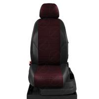 Авточехлы для Audi A3 8V с 2013-н.в. седан, хэтчбек 4-5 дверей. Задние спинка 40 на 60, сиденье единое, (так же подходит на спинку 40 на 20 на 40), 5 подголовников, передний подлокотник, БЕЗ заднего подлокотника  КК-6. Середина: жаккард красная точка. Боковины: чёрная экокожа. Спинка: чёрная экокожа.