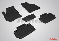 Ковры резиновые с бортом Seintex для Chery VERY 2011- (цвет Черный)