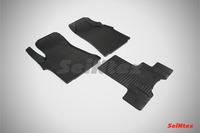 Ковры резиновые (сетка) Seintex для Hyundai H1 STAREX 2007- (цвет Черный).