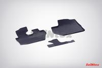 Ковры резиновые (сетка) Seintex для Hyundai PORTER I 2005- (цвет Черный).