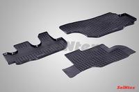 Ковры резиновые (сетка) Seintex для Hyundai HD 65/72/78 (цвет Черный)