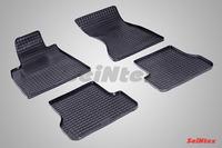 Ковры резиновые (сетка) Seintex для Audi A6 (4GC7) 2011- (цвет Черный)