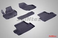 Ковры резиновые с бортом Seintex для Volvo XC-60 2008- (цвет Черный)