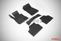 Ковры резиновые (сетка) Seintex для BMW X1 E-84 2012- (цвет Черный)