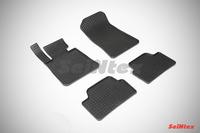 Ковры резиновые (сетка) Seintex для BMW 1 Ser E-81-88 2004-2013 (цвет Черный)
