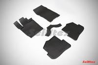 Ковры резиновые (сетка) Seintex для Audi A1 2010- (цвет Черный)